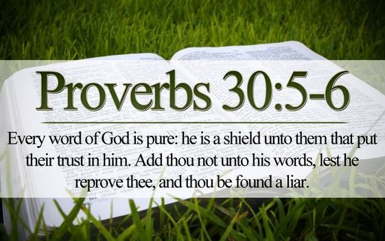 Proverbs 30:-5-6 Girded with Truth